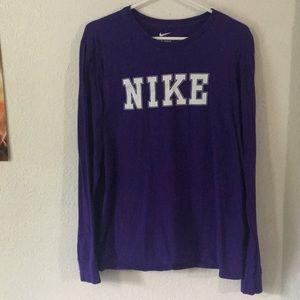 Purple Nike Long-sleeve T-Shirt